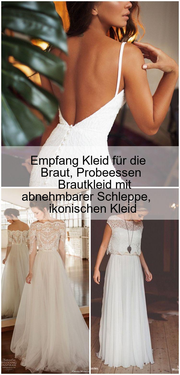 Empfang Kleid für die Braut, Probeessen Brautkleid mit abnehmbarer