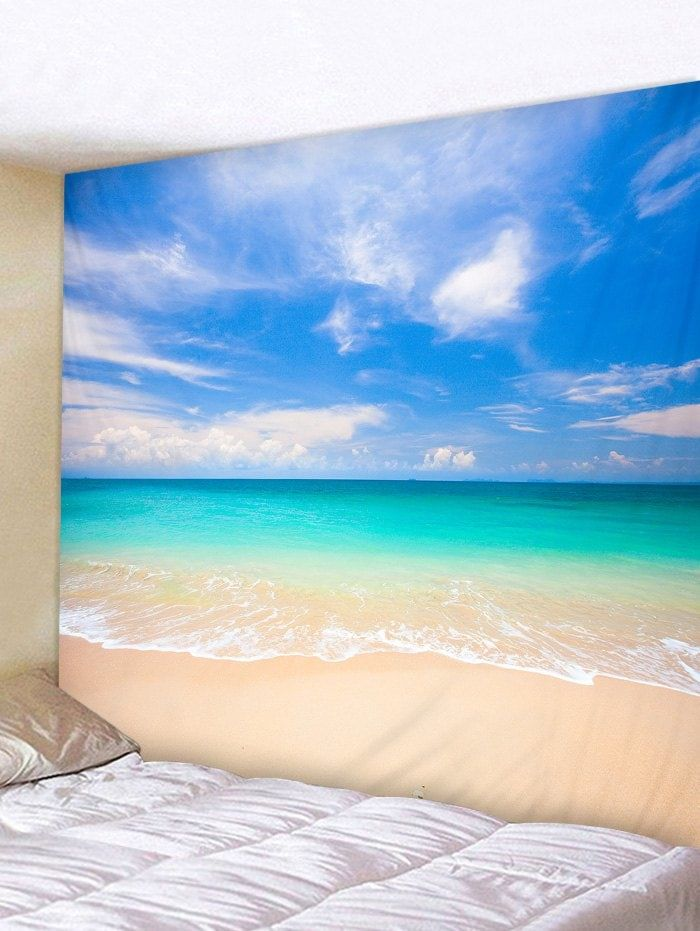 beach scene print tapestry wall hanging decor hanging on walls coveralls website id=61782