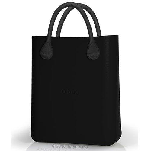 3774a1fa3c1ec O bag kabelka O chic čierna s čiernymi koženkovými rúčkami - Dámske  Kabelky, Tašky / Differenta.sk