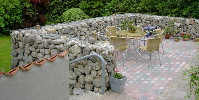 Gabian basket landscape gabion stone garden walls fences for Gabion landscaping