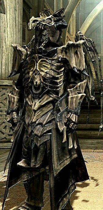Dragon Bone Mage | Skyrim Mod Armor | Elder scrolls skyrim