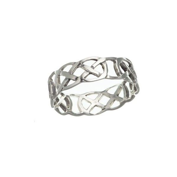 Sterling Silver Celtic Thumb Ring (44 BRL) ❤ liked on Polyvore featuring jewelry, rings, sterling silver jewelry, sterling silver celtic rings, sterling silver celtic jewelry, celtic jewelry and sterling silver jewellery