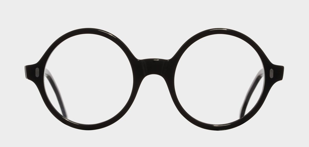 Architect inspired frame with round lenses and hand riveted hinges ...