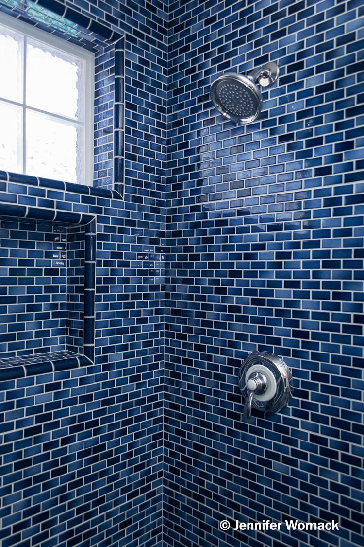 Fujiwa Glasstel II Indigo 1x2 Ceramic Tiles | Bathing | Pinterest ...