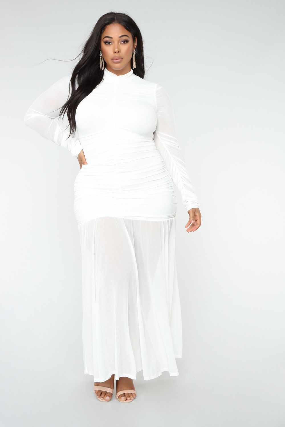 Cardi Party Ruched Dress - White | Plus size in 2019 | White ...