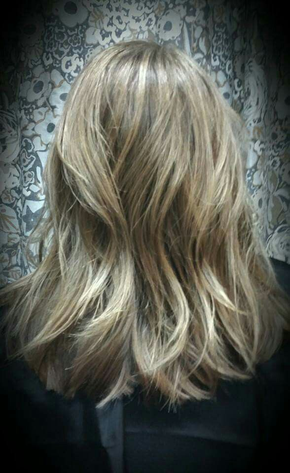Bronde hair color by Shana Montgomery,  owner of Fringe Theory Salon.