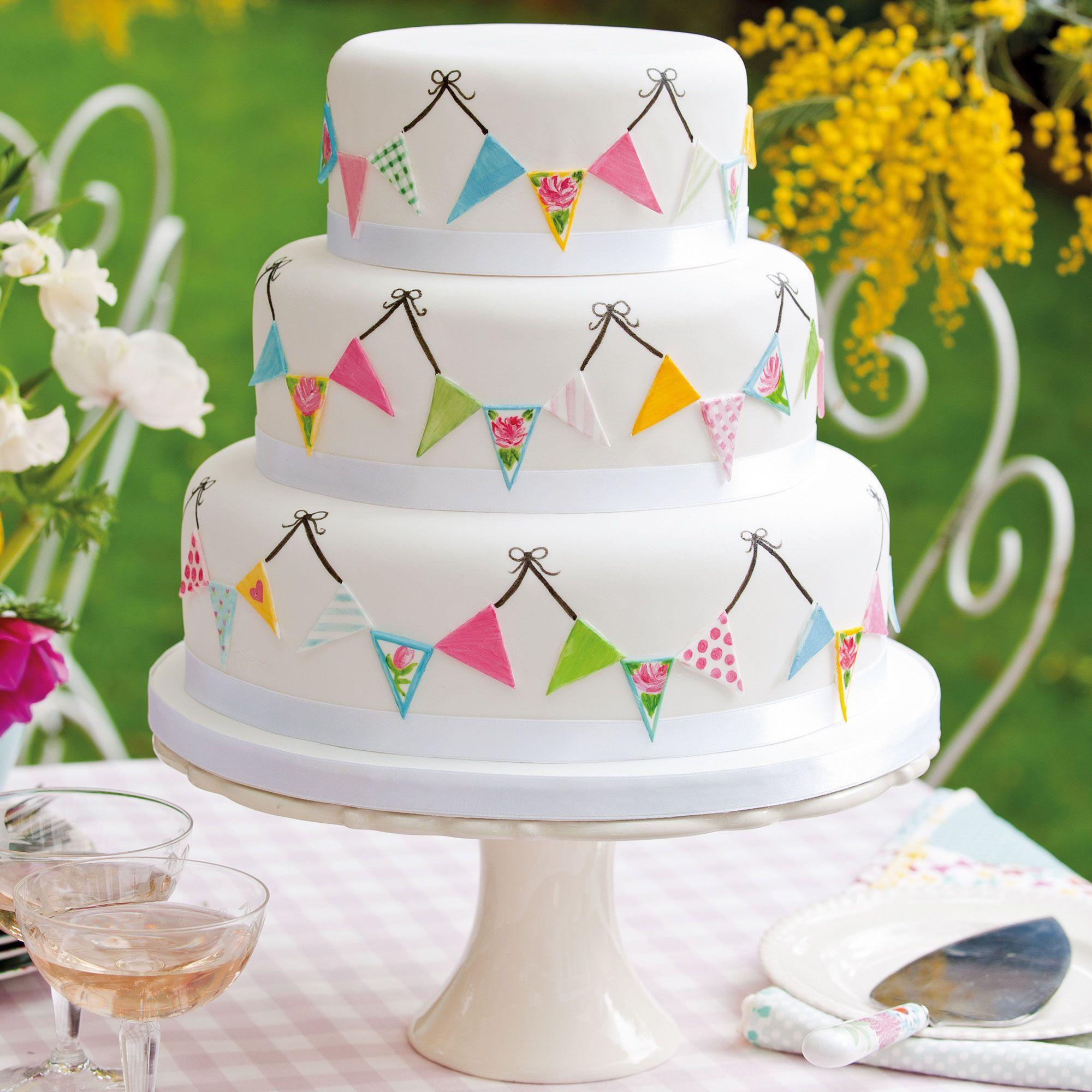 Summer Fete Wedding Cake Recipe | Step guide, Wedding cake and Cake