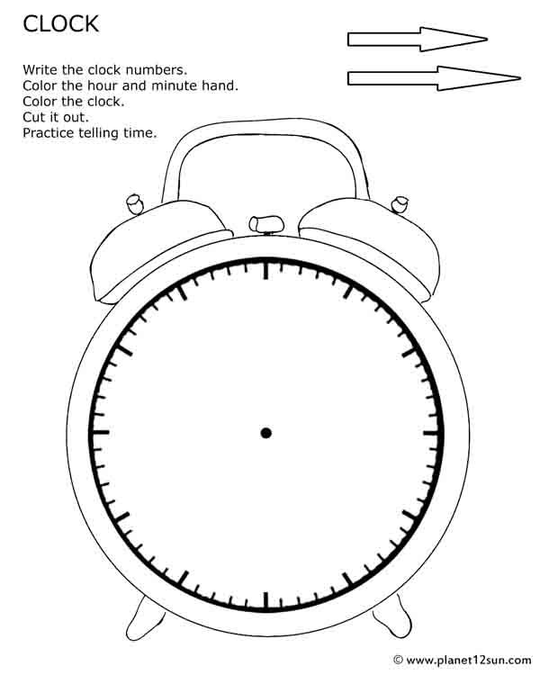 Printable cut out clock. Practice telling time