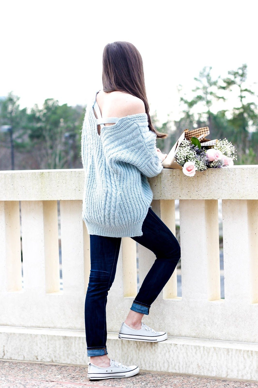 Carolina Sky Blue Sweater | Blue sweaters, Dark skinny jeans and ...