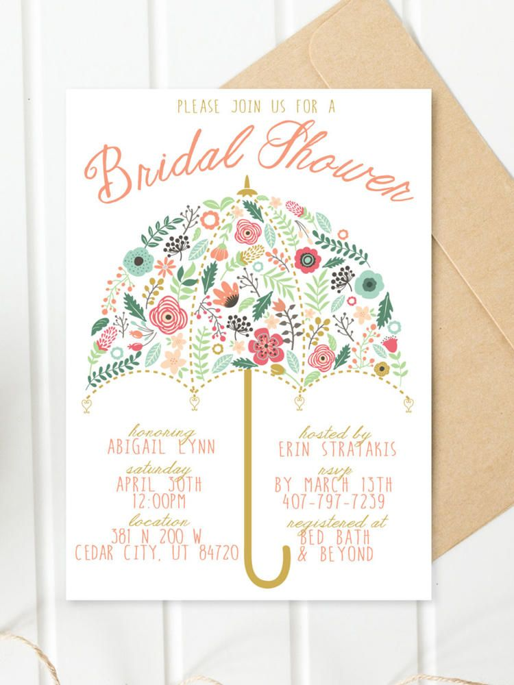 17 Printable Bridal Shower Invitations You Can DIY Bridal showers