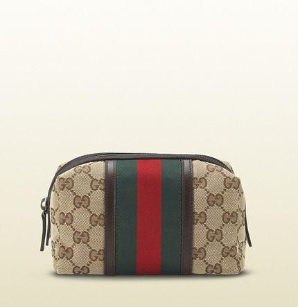 c883ff06362f Gucci original GG canvas web cosmetic case on shopstyle.com | Beauty ...