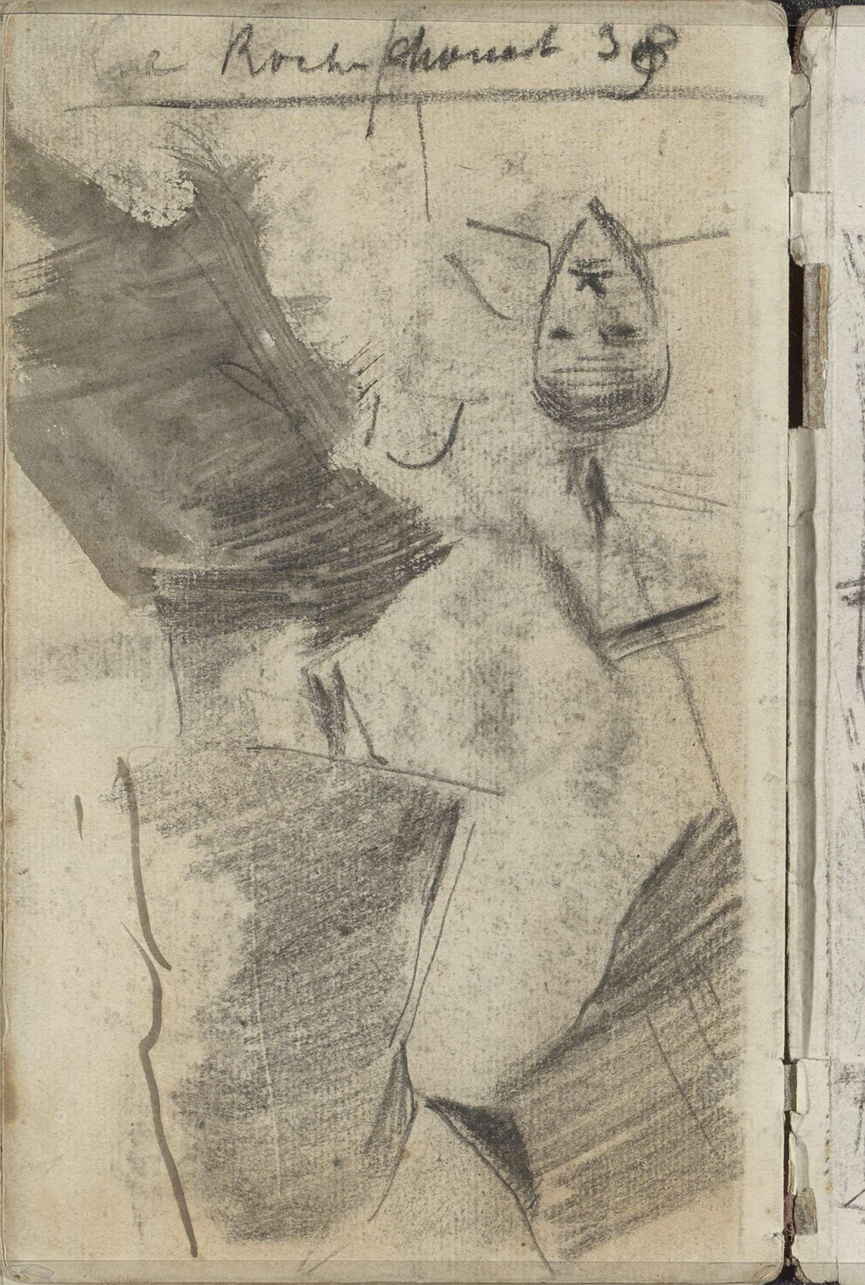 George Hendrik Breitner   Figuurstudies, George Hendrik Breitner, 1884 - 1886   Pagina 51 uit een schetsboek met 25 bladen.
