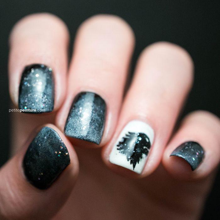 Game of Thrones House Stark Petite Peinture Nail Art   Nail art to ...