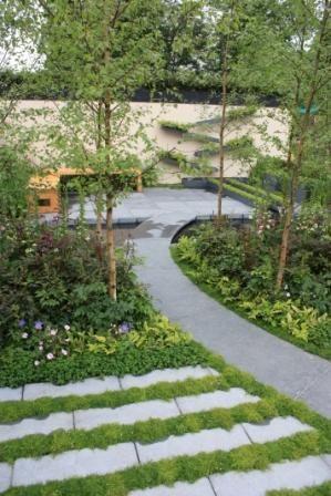 Combinación interesante pavimento y tapizante serenity garden - paisaje jardin