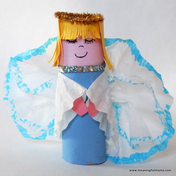 Crafts Made From Paper Towel Rolls: Paper Towel Roll Christmas Angels