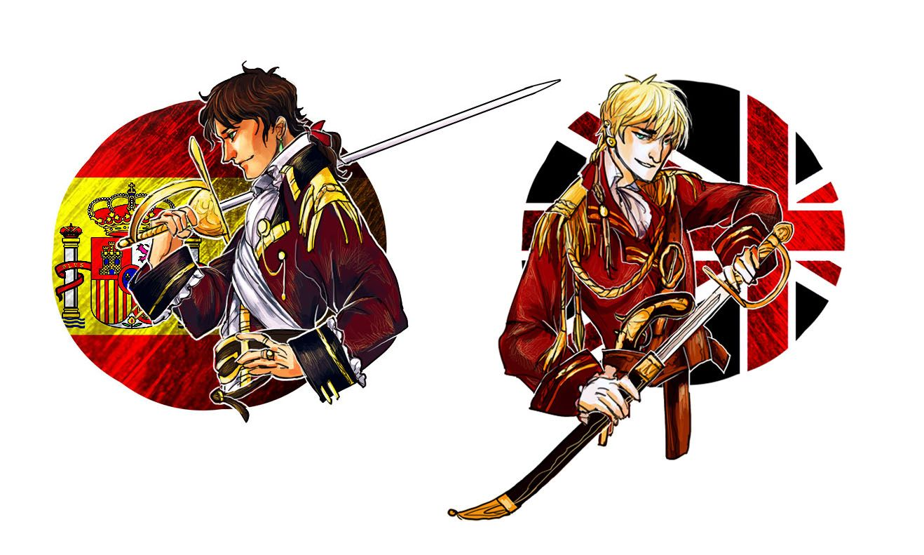 Armada Spain and Pirate England by lilithran.deviantart.com on @deviantART