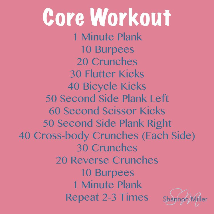 Weekly Workout Routine  Wednesday  To Your Health