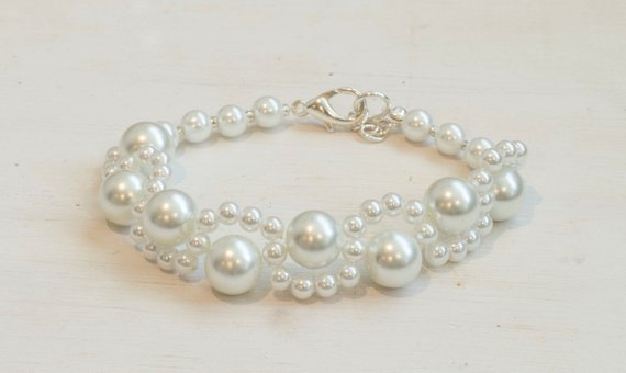 Woven Pearl Bracelet One Of Kind Bracelets Products