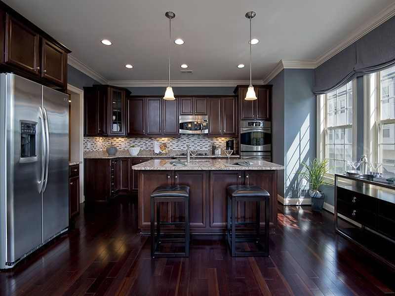 Gorgeous Kitchen Renovation In Potomac Maryland: This Is Pretty. Like Blue Paint With The Dark Cabinets
