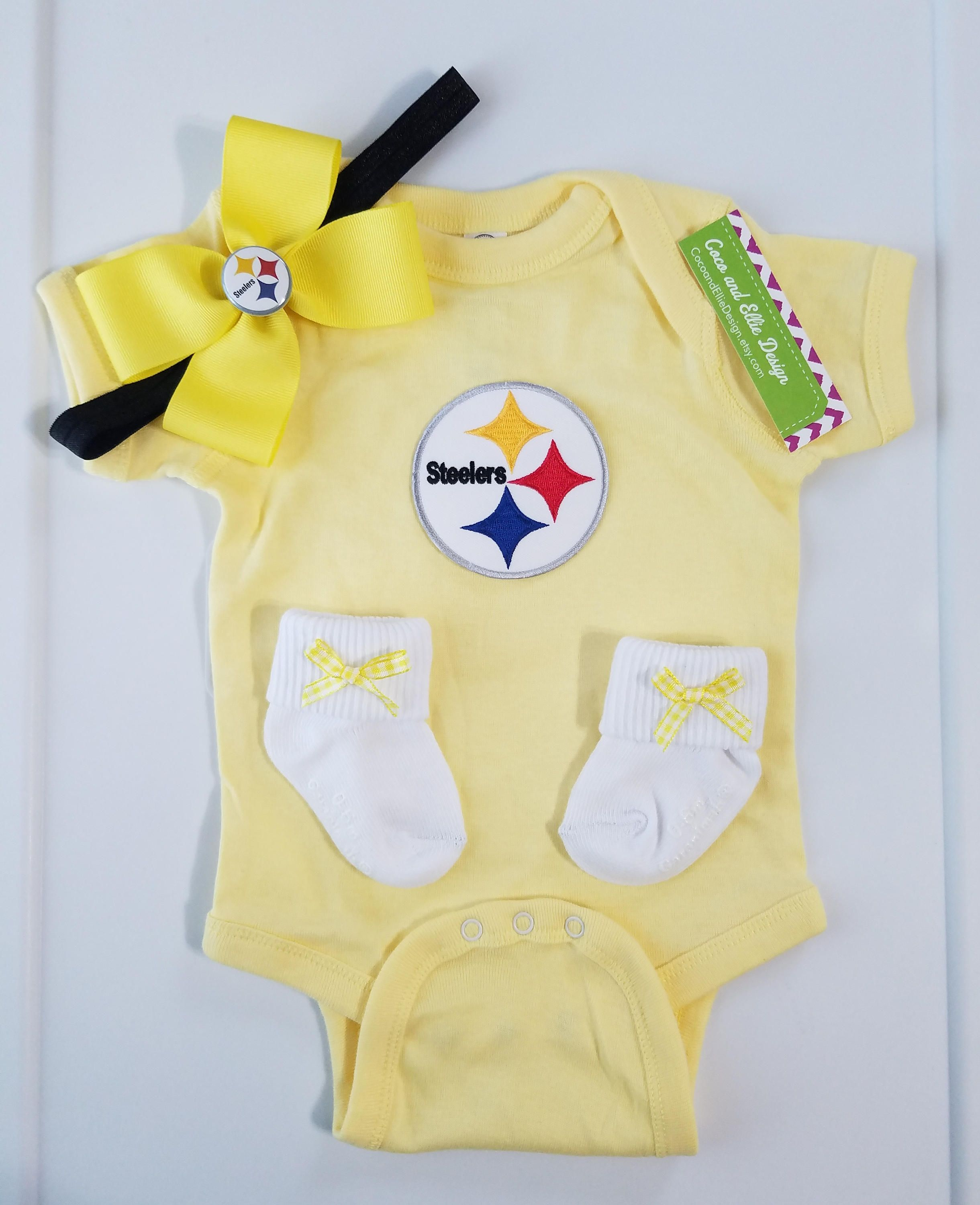 Pittsburg Steelers baby girl outfit Steelers baby girl shower t