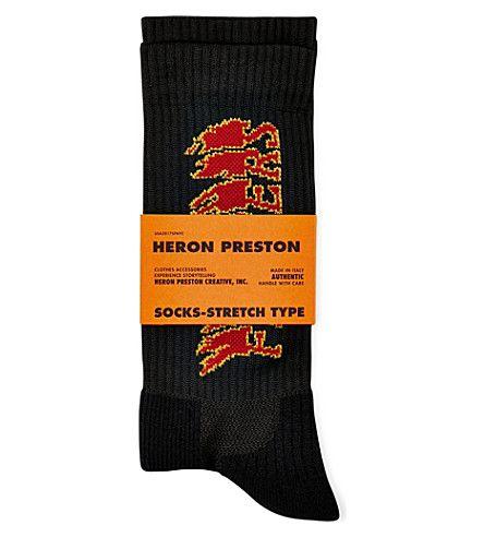 Heron Preston Woven logo socks Magasin En Ligne Nouvelle Mode D'arrivée Sortie À Partir De France nicekicks Vente Vraiment aYmuZpw8