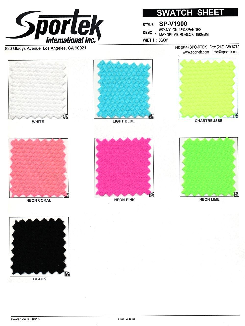 Sp V1900 Alpha Tek Mesh Color Card Fabric Stretch Mesh Enjoy fast delivery, best quality and cheap price. pinterest