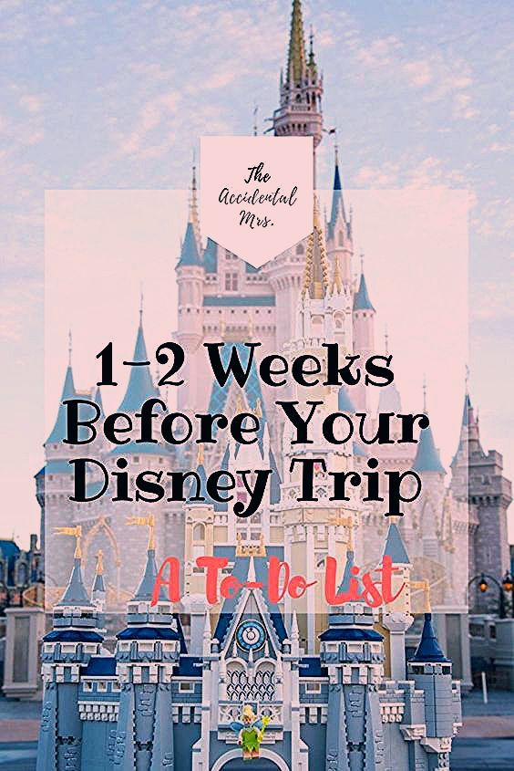 Photo of 1-2 Weeks Before Your Disney World Trip: A To-Do List – The Accidental Mrs.