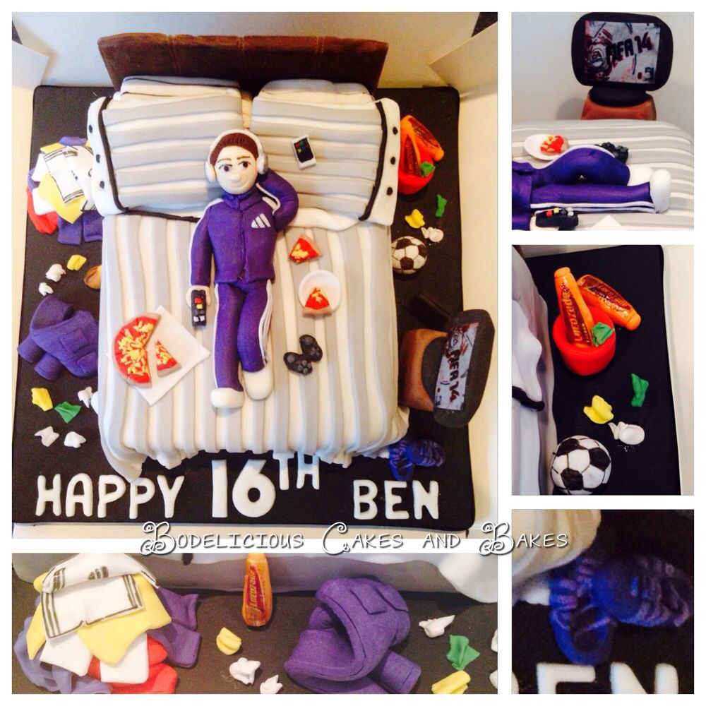 Messy Teenage Bedrooms Teenage Boys Bedroom Cake By Bodelicious Cakes And Bakes Cake