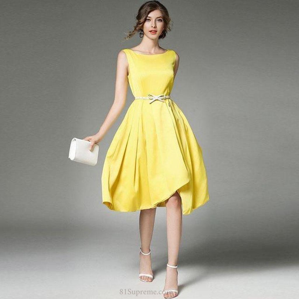Simple casual sleeveless elegant long dress supreme dress