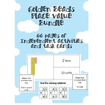 66 pages of Golden Beads task cards and independent work to help ...