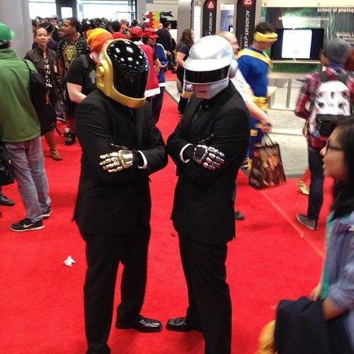 Daft Punk cosplay at #NYCC