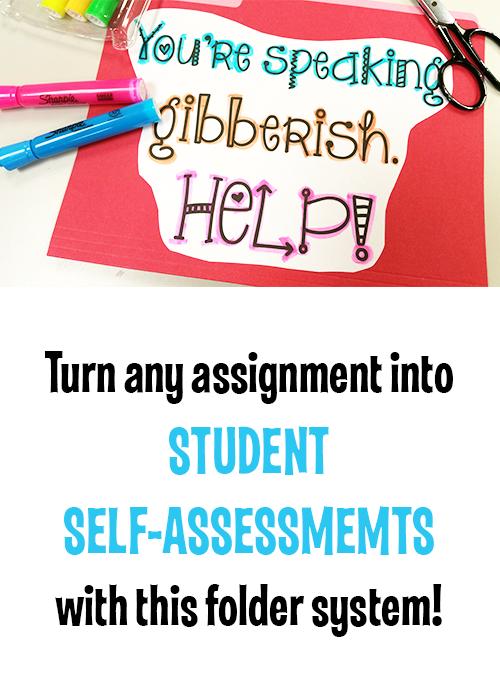 Student SelfAssessment Folder System Student self