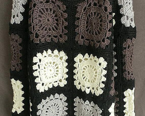 Granny Square Crochet Sweater Long Sleeve Women Jumpers | Mangas ...