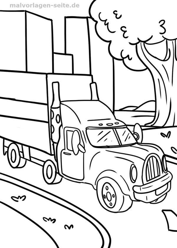 Malvorlage LKW | Ausmalbilder für kinder, Lkw und Ausmalen