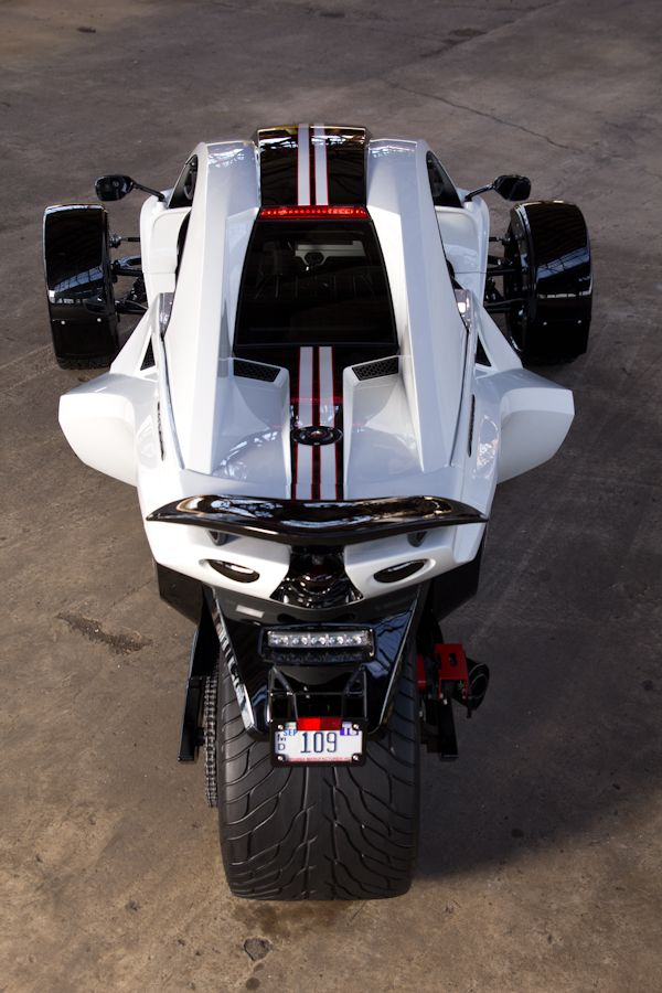 Tanom Invader Type R Stage 2 Top View Reverse Trike Fast Bikes