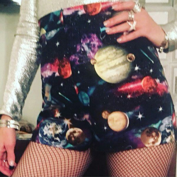 Gwen Stefani, space shorts for Saturday Night Live skit.