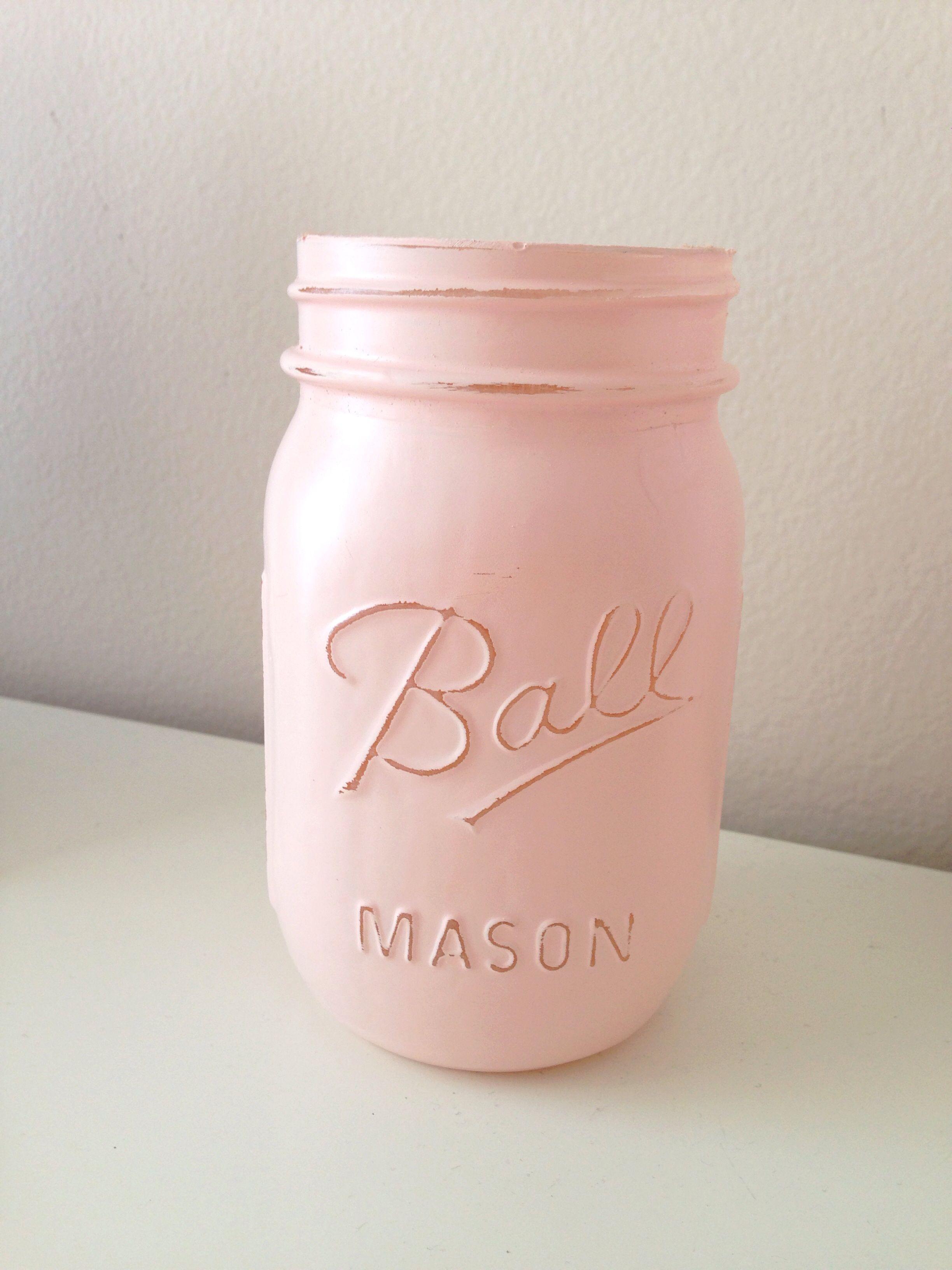 441427ccf53c Easy DIY painted mason jar! How to 1) Put mason jar face down