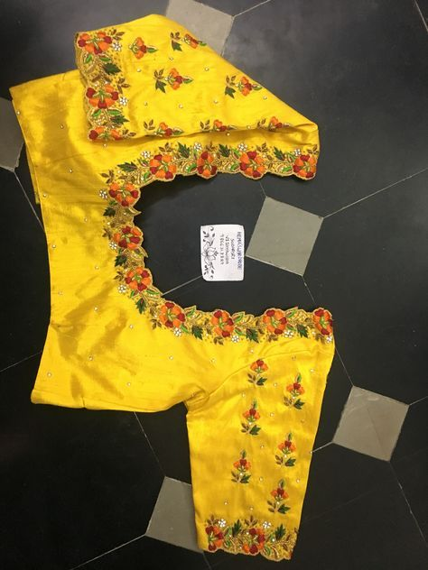 64 Trendy Ideas Embroidery Blouse Designs Simple Machine #blousedesigns