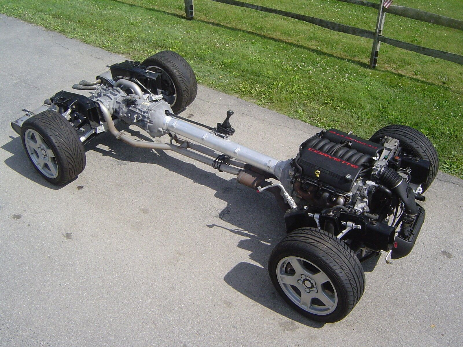 99 corvette engine 6 speed rolling chassis complete kit to run