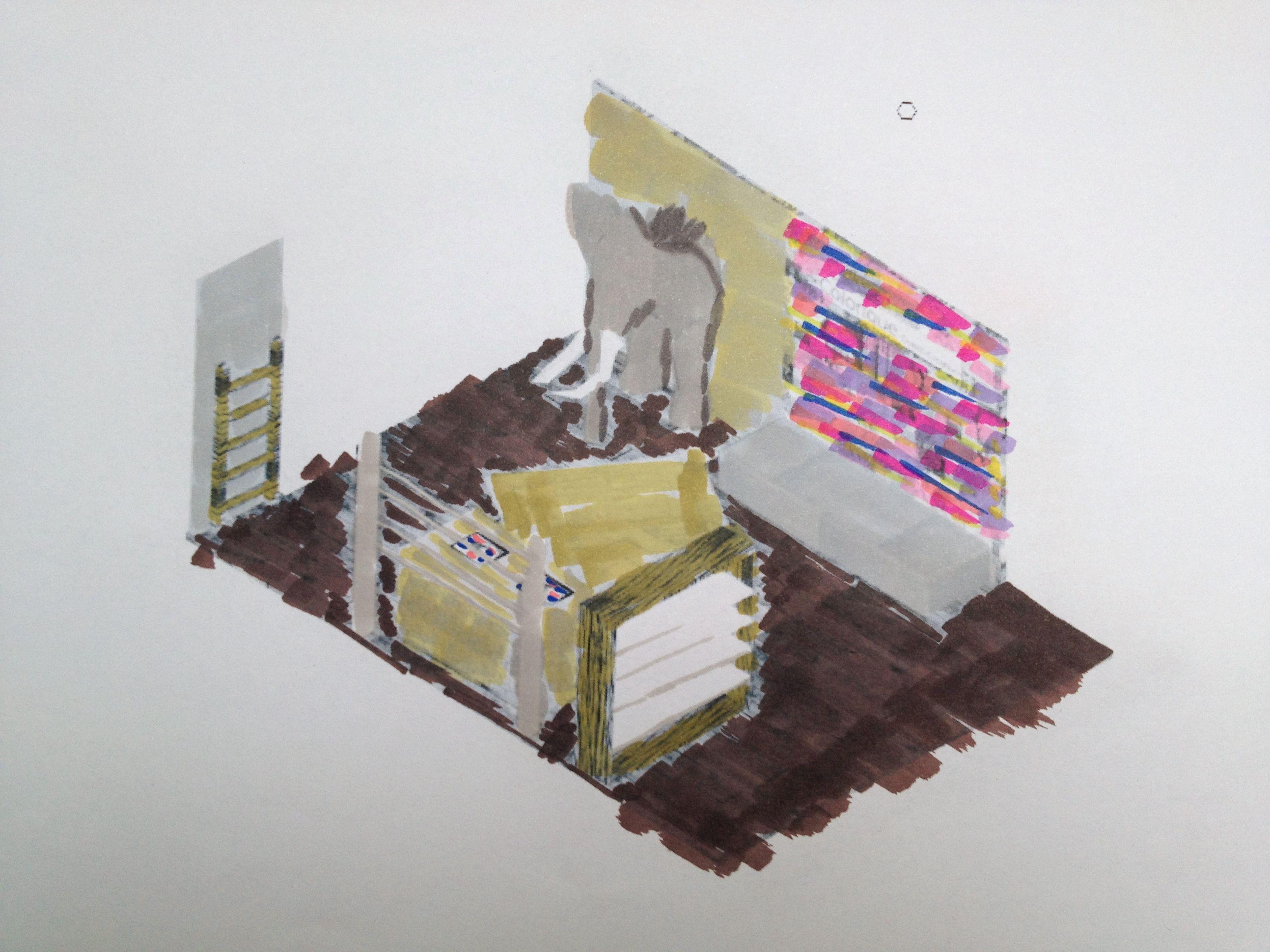 hmc project wtc rotterdam 'beursstand' voor woonaccessoire merk Colorique