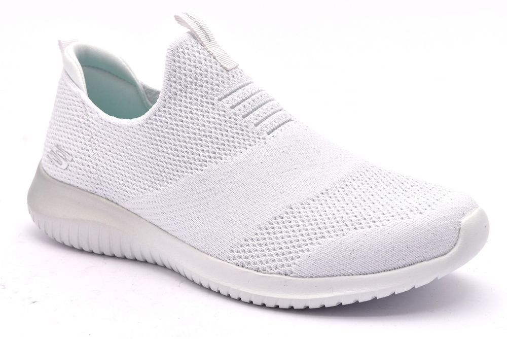 3e81659720c57 SKECHERS 12838 WSL BIANCO Slipon Sneakers Memory Foam Air Cooled Donna  Scarpe