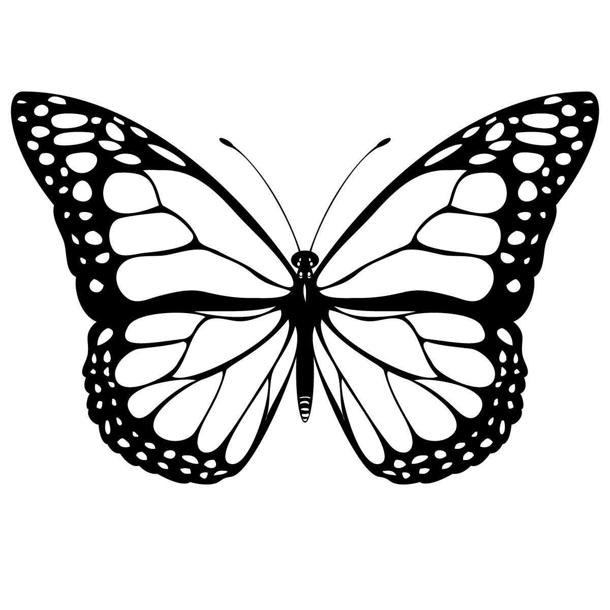 Butterfly Coloring Page Free Printable Butterfly Coloring Pages For Kids Entitlementtrap Com White Butterfly Tattoo Butterfly Tattoo Stencil Butterfly Tattoo Designs [ 1200 x 1200 Pixel ]