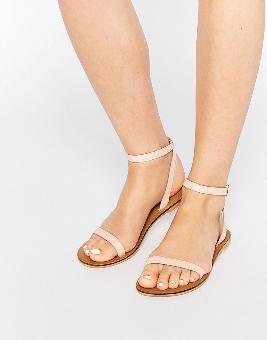 0a8b683a321d30 Image 1 of ASOS FINLAY Leather Flat Sandals