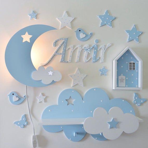 Wooden bedroom wall or door letter
