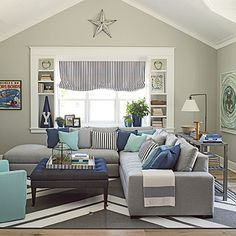 Coronado Showhouse Photo Tour | Sofa upholstery, Sunbrella fabric ...