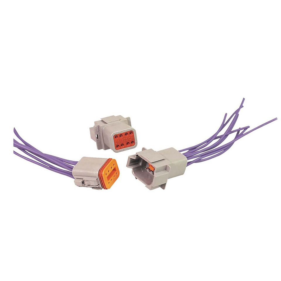 DT06-2S-E004 8-pin deutsch dt connector male and female wiring harness