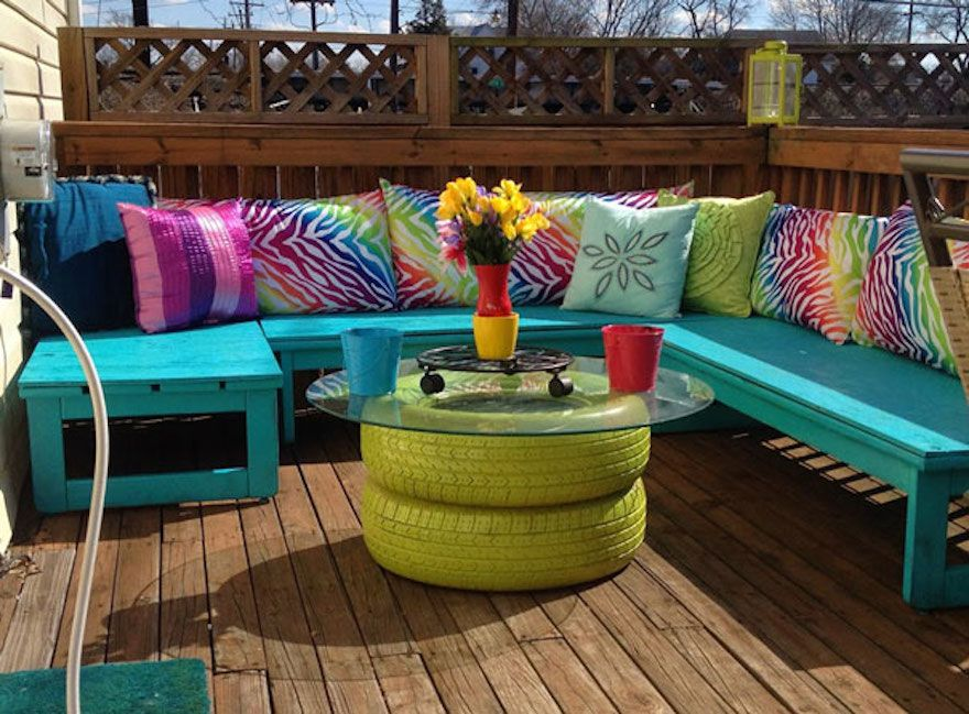 Garden inspiration how to recycle tires swing hammock table etc