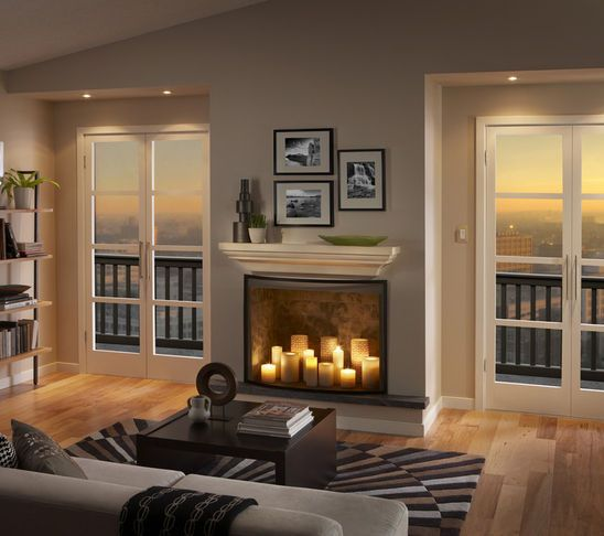 Candles In A Fireplace Pictures: Monte Carlo Discus ES