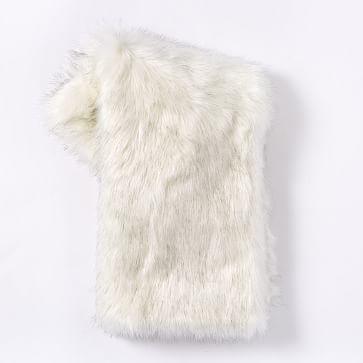 Faux Fur Brushed Tips Throw #westelm bedroom