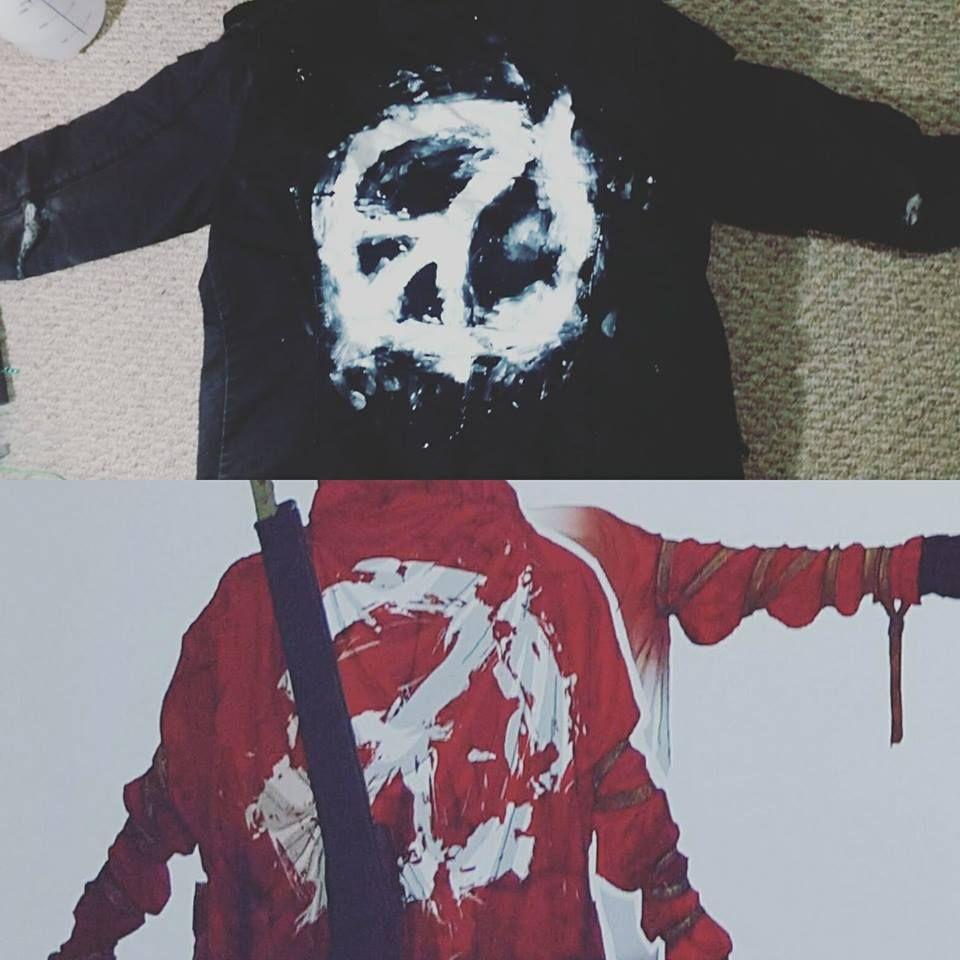 Updated my ratty old jacket #MetalGearSolid #mgs #MGSV #MetalGear #Konami #cosplay #PS4 #game #MGSVTPP